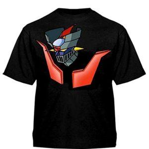 Camiseta Mazinger Negra Cabeza y Fuego