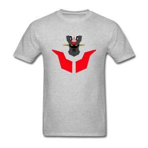 Camiseta Mazinger Z gris - Cabeza y pecho